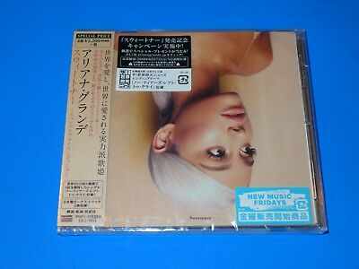 2018 JAPAN ARIANA GRANDE SWEETENER CD w/2 BONUS KARAOKE TRACKS