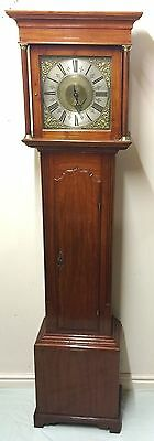 Brass Single Handed Grandfather Longcase Clock with Alarm JNO TOMPSON WHITCHURCH
