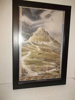"""Framed Lord of the Rings The Golden Hall Alan Lee Wall Art Picture Print 19""""x13"""""""