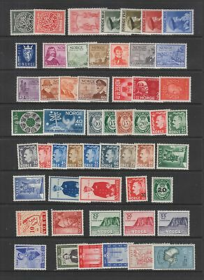Norway collection from 1945 , MH , 92 stamps