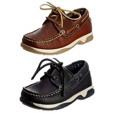 f973115e354 CHATHAM SKIPPER KIDS Boys Mens Boat Deck Leather Lace Up Casual Smart Shoes  New