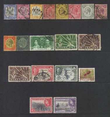 Nyasaland 1897-1964 Used Selection Cat £28+
