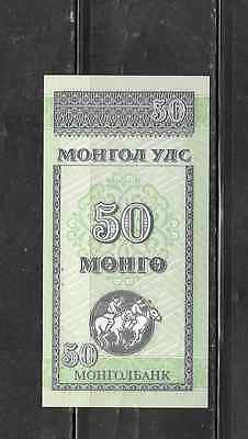 Mongolia #51 1993 Unused Old 50 Mngo Banknote Note Bill Paper Money Currency