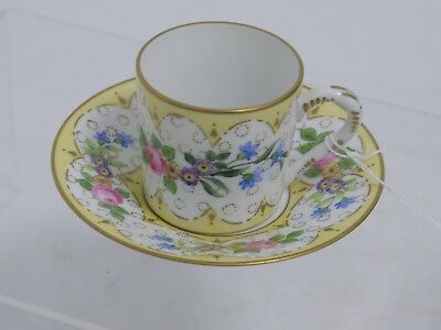 Small Coffee Cup & Saucer By Limoges (Ms127)