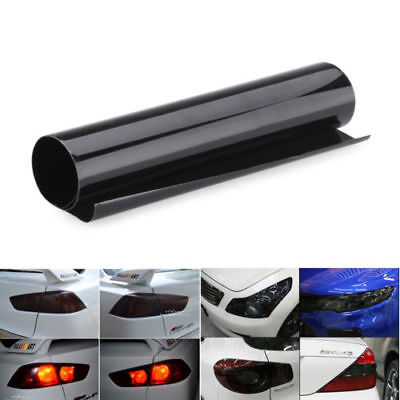 "12x24"" Car Headlight Smoke Tint Film Fog Tail light Vinyl Wrap Sheet"