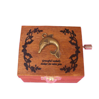 Engraved Wooden Music Box interesting Kid Toys Xmas Gifts