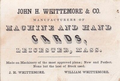 John H Whittemore, Leicester, MA - Machine and Hand Cards