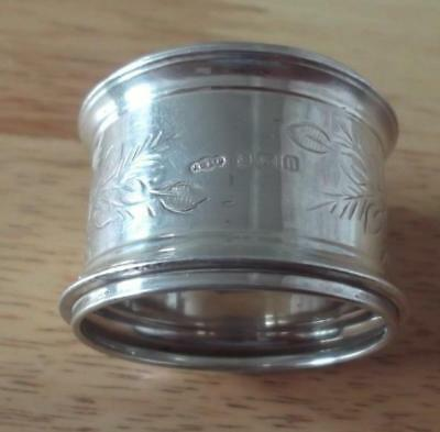 Antique 1912 Sterling Silver Napkin Ring By Joseph Gloster,birmingham  Z2