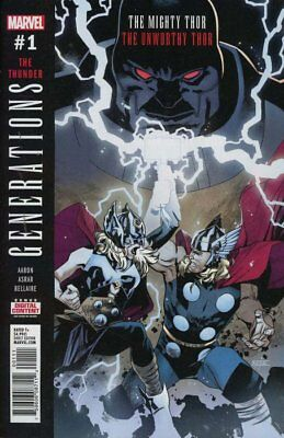 GENERATIONS: UNWORTHY THOR & MIGHTY THOR #1, New, First print, Marvel (2017)