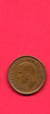 Canada Canadian Km32 1945 Vf-Nice Old Vintage Wwii Small Cent Penny Coin