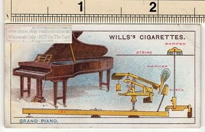 The Grand Piano Music Instrument  100+ Year Old  Ad Trade Card