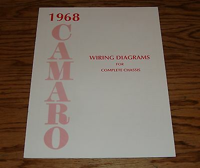 1968 chevrolet camaro wiring diagram manual for complete chassis 68 chevy