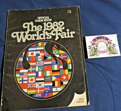 1982 WORLD'S FAIR Guide Book Knoxville & '84 Louisiana World's Fair Ticket Stub