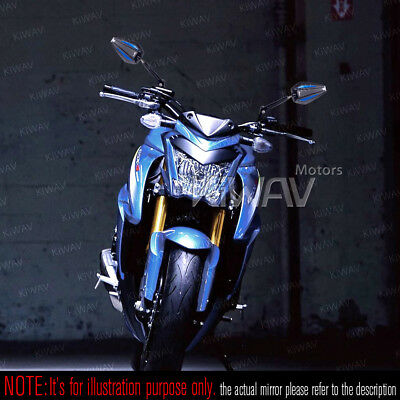 """awesome Achilles rear mirrors blue 5/16"""" for Harley street bob special 2016"""
