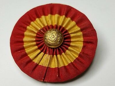 Rare original Spanish American War Infantry Officer's cockade with button
