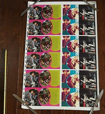 1998 Jimi Hendrix cd UNCUT PRINTER PROOF SHEET
