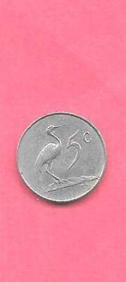 South Africa Rsa Km67.1 1965 Vf-Very Fine-Nice Old Vintage 5 Cents  Bird Coin