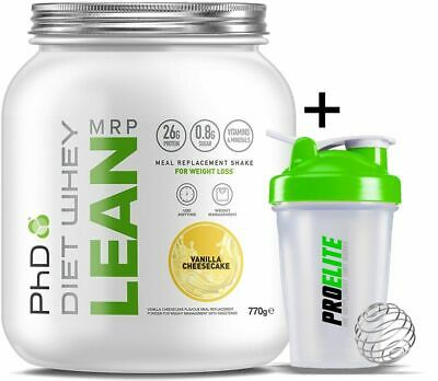 PhD Nutrition Diet Whey Lean 770g MRP Meal Replacement Shake Protein + Shaker