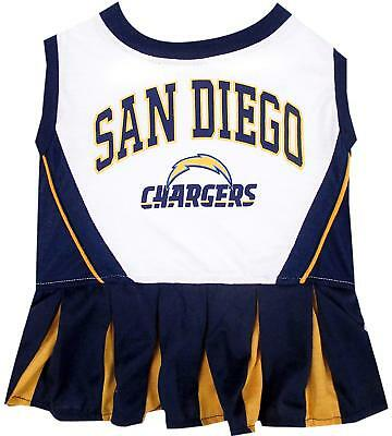SAN DIEGO CHARGERS NFL Dog Pet Cheerleader Dress