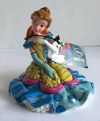 Disney Romero Britto Belle Beauty & the Beast Figurine NEW Enesco #4030817 2011
