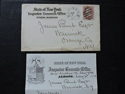 1863 Ny Civil War Letter Signed Silas W Burt ! Ny Inspector General & Naval Off.