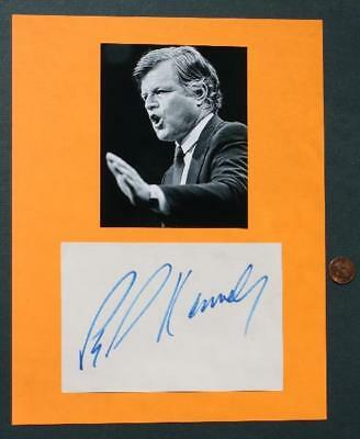 Massachusetts Senator-Presidential Candidate Ted Kennedy signed autograph-photo!