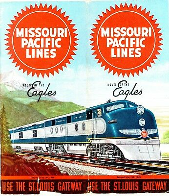 Missouri Pacific Railroad System passenger time table, May 30, 1948 - 92 panels