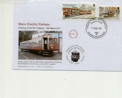 Isle of Man Railway Cover First Day of MER in 2011