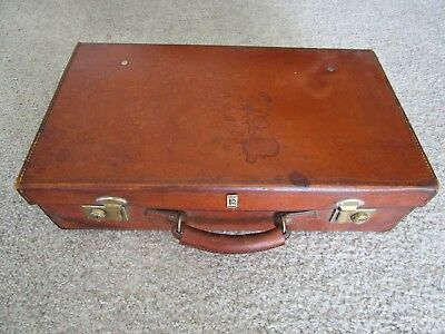 Vintage Rolls Royce Luggage Suitcase Tan Leather Silver Shadow Corniche Bentley