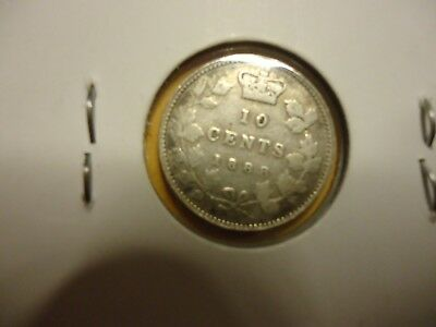 Canada 1888 10 Cents silver free shipping