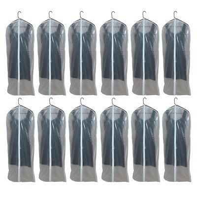 12 X Dress Bags Garment Storage Bag Protect Suit Cover Gown Storage Dust Travel