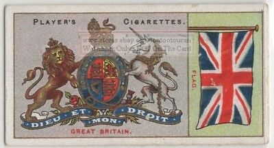 Great Britain Flag Banner Emblem England 110+ Y/O Ad Trade Card