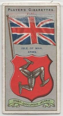 Isle Of Man Flag Banner Emblem England 110+ Y/O Ad Trade Card