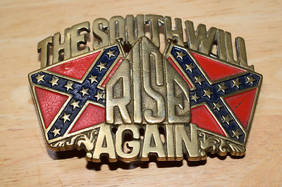 The South Will Rise Again . Baron bBb  solid Brass Belt Buckle 1981.Vgc 6265