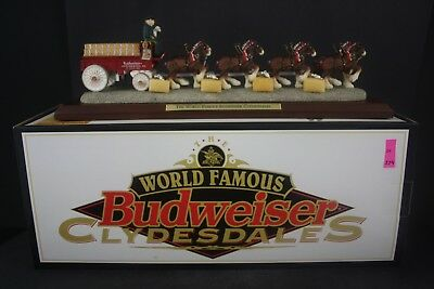 Budweiser 1997 Clydesdale Hitch Large Figurine Limited Edition 760/1000 in Box