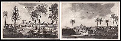 1668 China city view Ansicht Asia Tsisang Kupferstich antique print Nieuhof