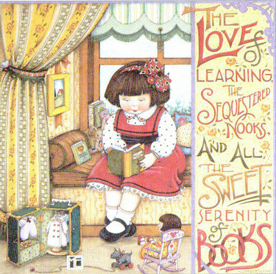 LOVE OF LEARNING Doll Trunk-Handcrafted Fridge Magnet-w/Mary Engelbreit art