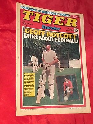 TIGER&SCORCHER-WEEKLY BRITISH COMIC-1stSEPT 1979-CARLOS REUTEMANN &FOOTBALL TEAM