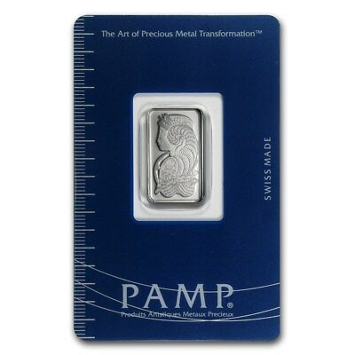 Pure Platinum ~5~Gram Pure 999 ~ Fortuna ~ Sealed Coa ~ Pamp Suisse Bar ~$188.88