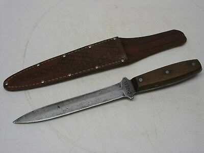 "WW II or Post War Case XX ""Sticking""Fighting Knife & Sheath - VERY GOOD"