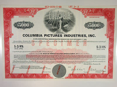 NY, CBS-Columbia Broadcasting System, Inc 1971 Specimen Register $-Odd Bond ABN