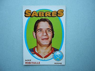 1971/72 O-Pee-Chee Nhl Hockey Card #8 Mike Robitaille Rookie Ex/Nm Sharp!! Opc