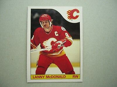 1985/86 O-Pee-Chee Nhl Hockey Card #1 Lanny Mcdonald Nm Sharp!! 85/86 Opc