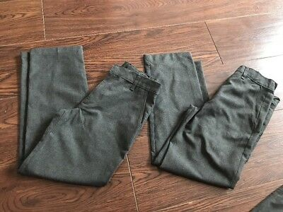 2x M&S Marks & Spencers Boys grey school trousers pants bottoms age 8-9 years