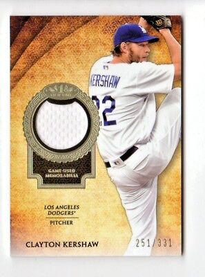 Clayton Kershaw  Mlb 2017 Topps Tier One Relics #/331 (Los Angeles Dodgers)