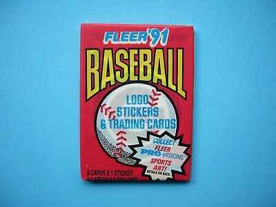 1991 Fleer Mlb Baseball Card Unopened Wax Pack Sharp!! '91 Fleer