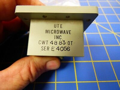 UTE Microwave CWT-4883-OT ISO Adapter WR-137 Waveguide Transition to SMA