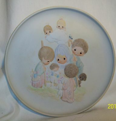 Precious Moments Come Let Us Adore Him 1981 Plate #393