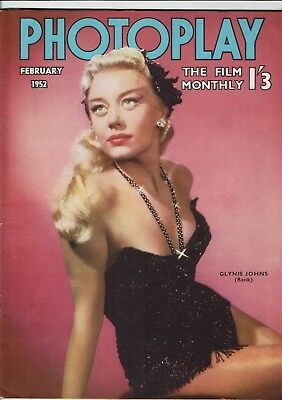 Photoplay February 1952 Glynis Johns Montgomery Clift Kenneth Tobey The Thing