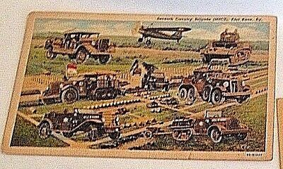 Military Related Postcards: Fort Belvoir, Fort Hayes, Fort Knox, 1940's.
